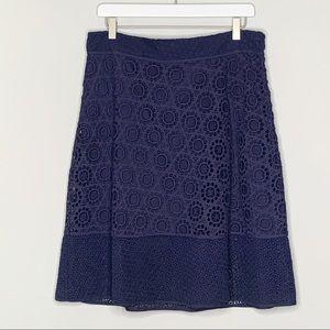 Trina Turk Desha Embroidered Crochet Lace Skirt